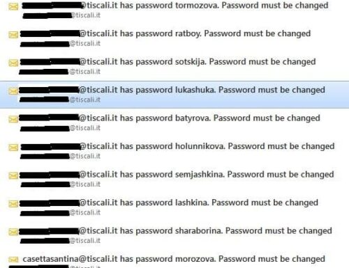 email truffa – Non è vero che conosce la tua password